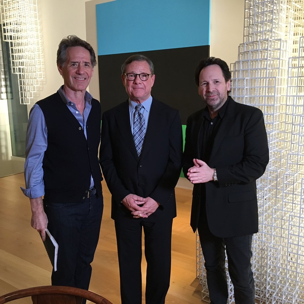 Behind the scenes - Producer Jonas Prince, Michael Ovitz, Director Barry Avrich - Photographer: Ken Ng