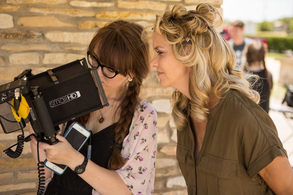 Chasing Grace - Director, Julia Barnett, on the monitor