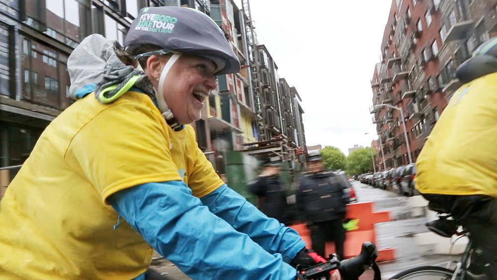 Defining Hope - Diane finishing 40 miles