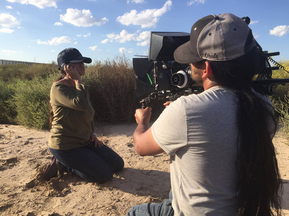 Behind the scenes - Juana Doe calling for help while lost in the desert.