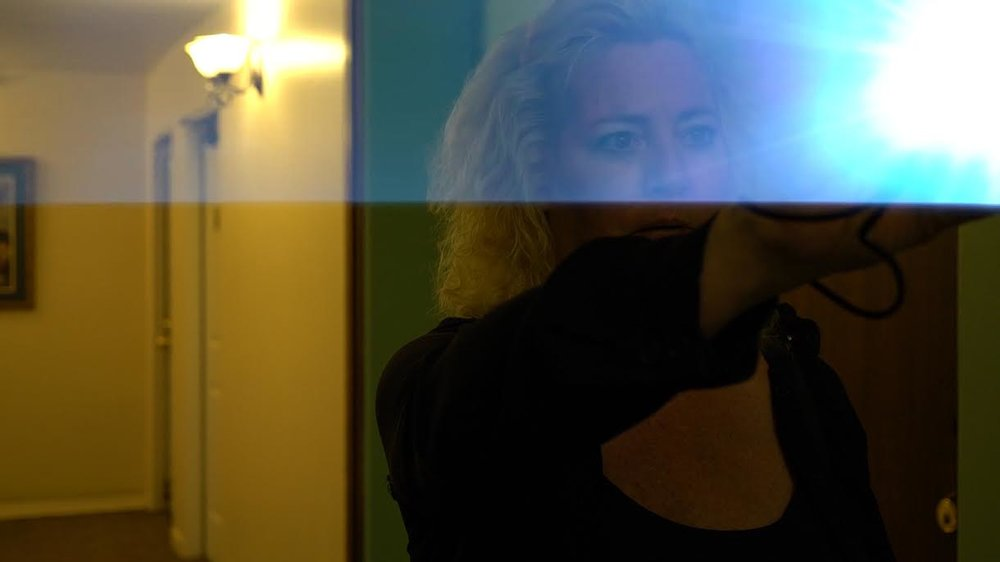Anita Owens searches for apparitions in the famously haunted Jerome Grand Hotel.