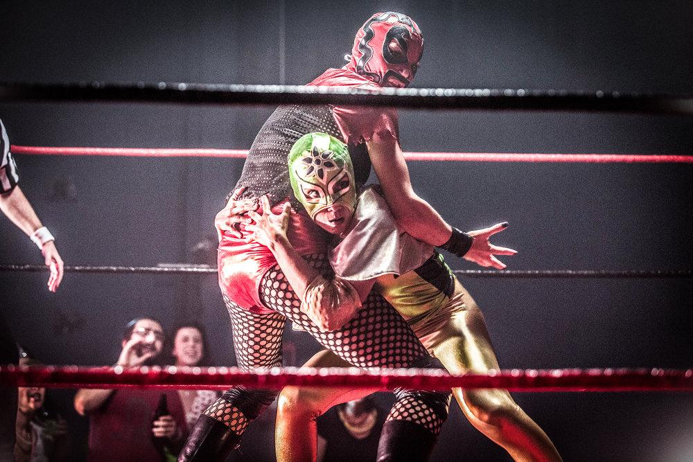 Signature Move - Ragina (Molly Callinan) and Zaynab (Fawzia Mirza) In the ring.