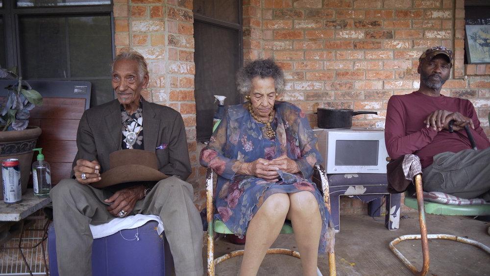 3 elder African American folks by Joel Fendelman.