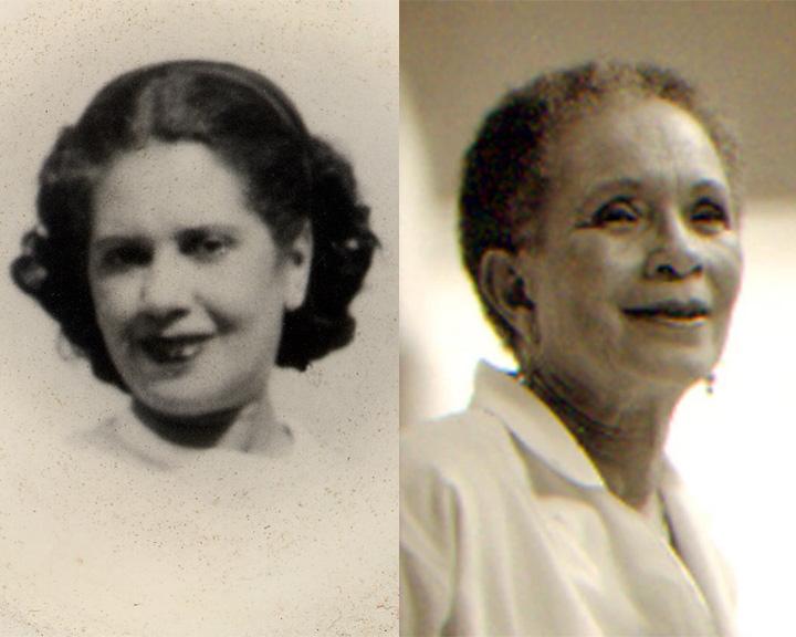 Hilda Wilkinson Brown (l.) and Lilian Thomas Burwell (r.)
