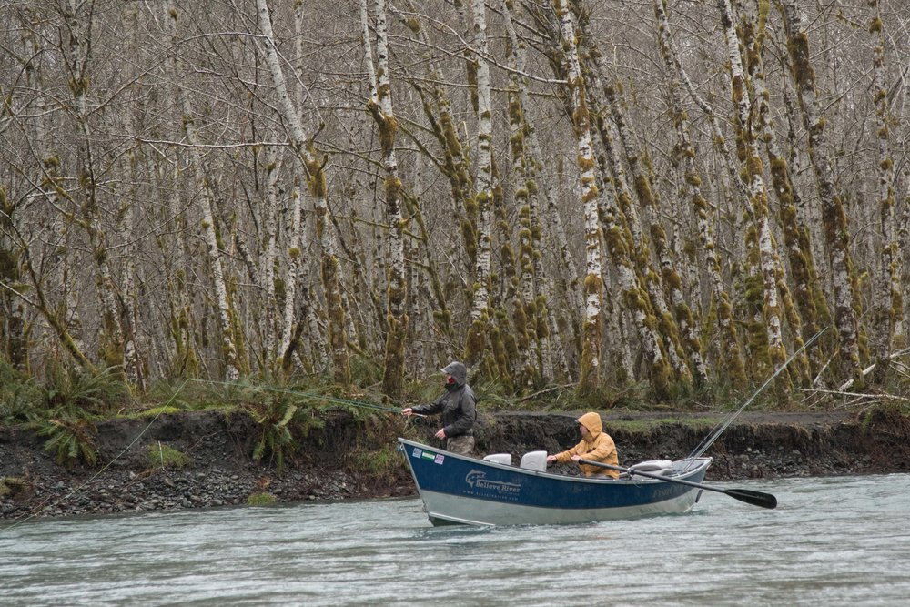 Brothers - Drift boating for steelhead
