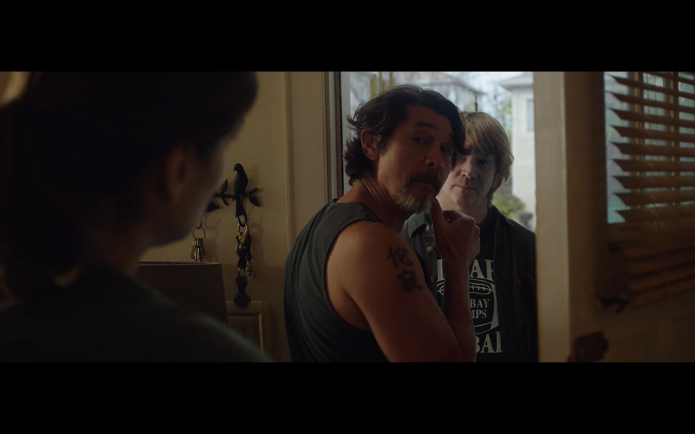 This is a scene where Tim (Dash Mihok) address the step-father played by Lou Diamond Phillips who are both looking at the mother played by Betsy Brand.