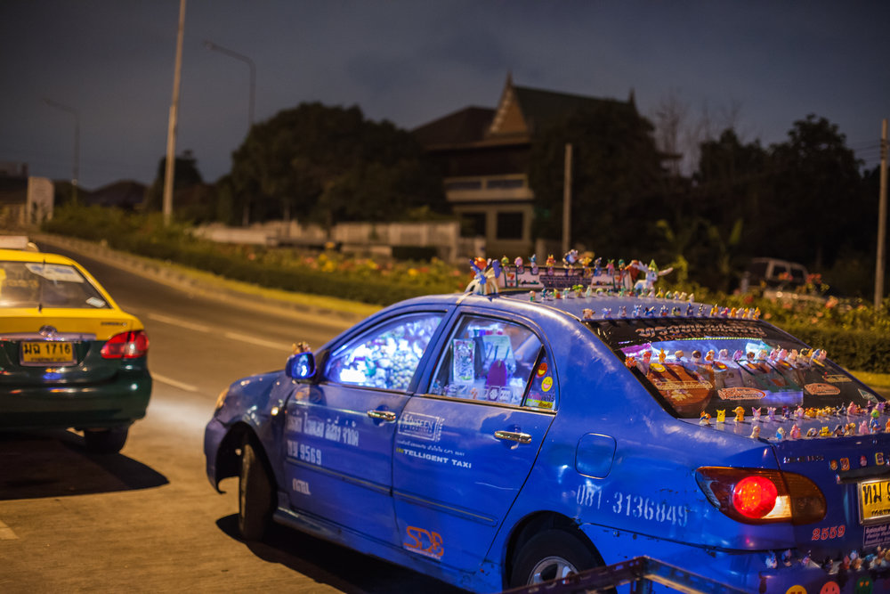 Bazaar Taxi - Narong driving his taxi