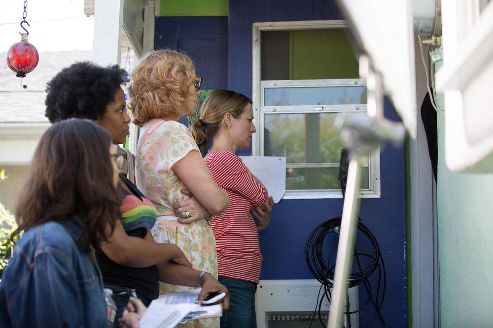 Women make movies, director Leah Patterson, Writer Norelle Scott, 1st AD Joy Dabbs, and Script Supervisor Autumn Palen