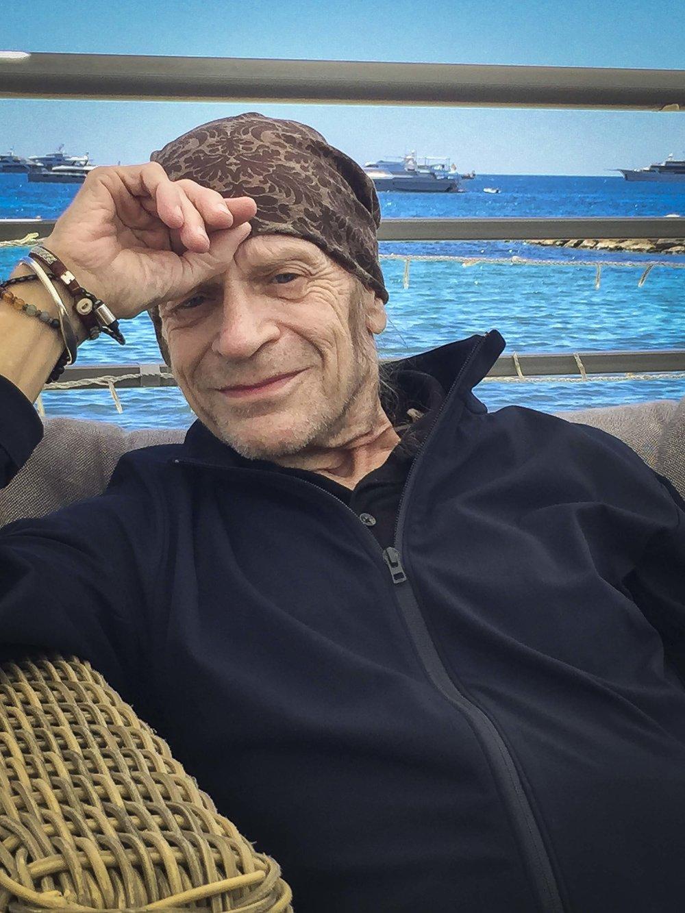Leon Vitali by the ocean