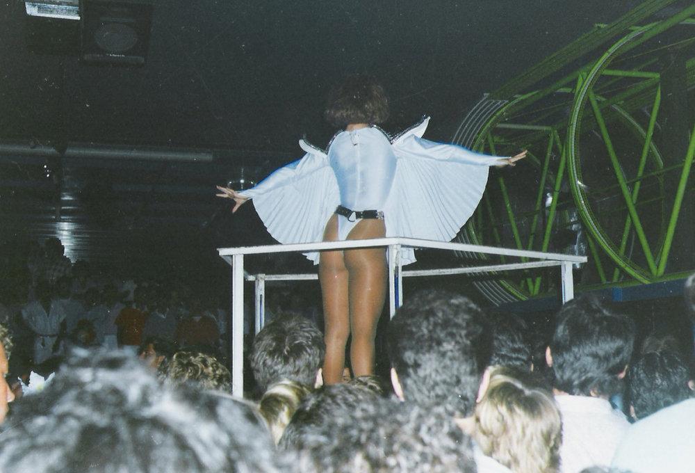 Italo Disco Legacy - Creatures show dancer at L'Altromondo Studios, Rimini, 1985