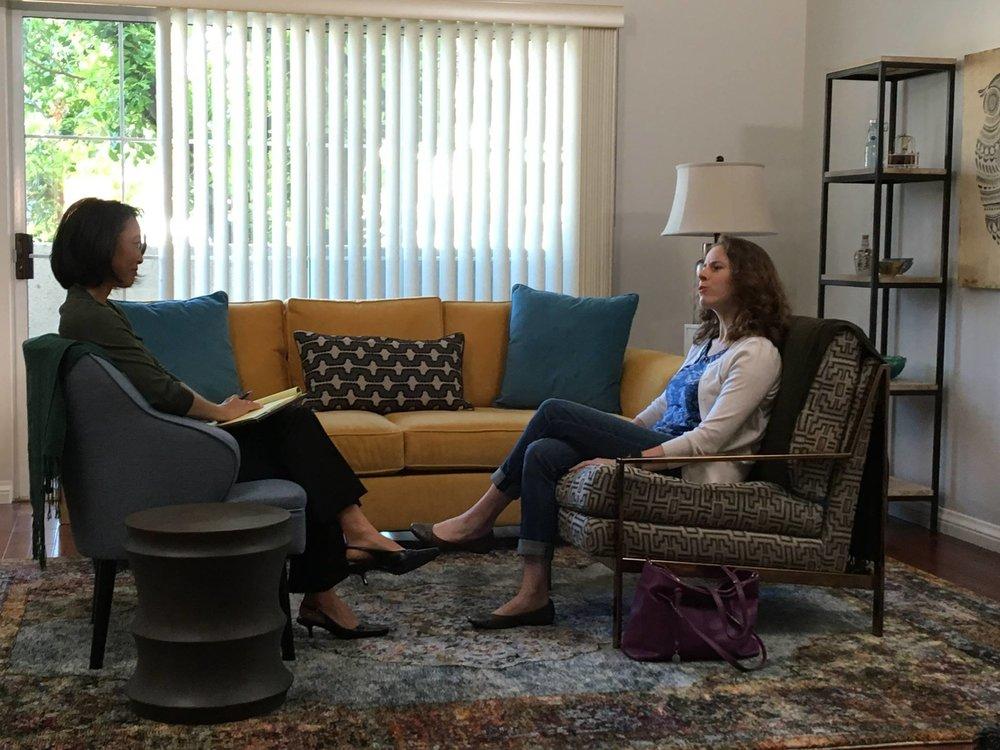 Penelope in Barbara's office