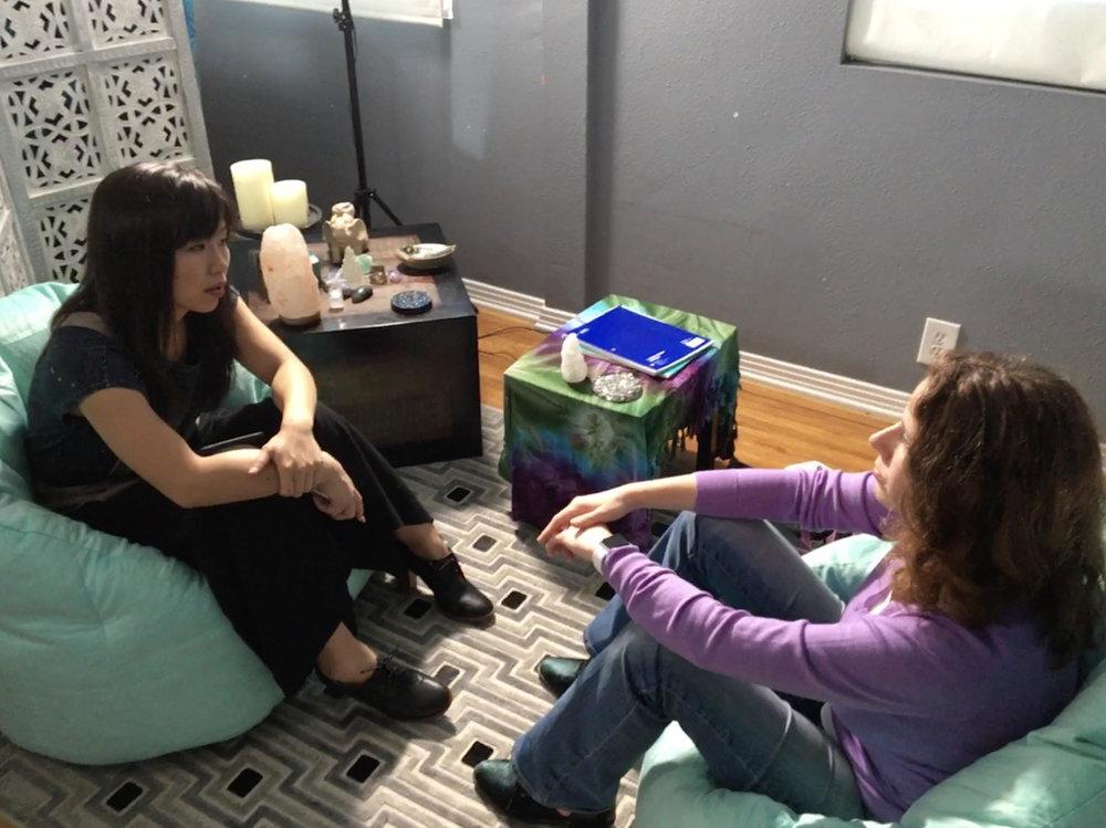 Penelope in Hope's office