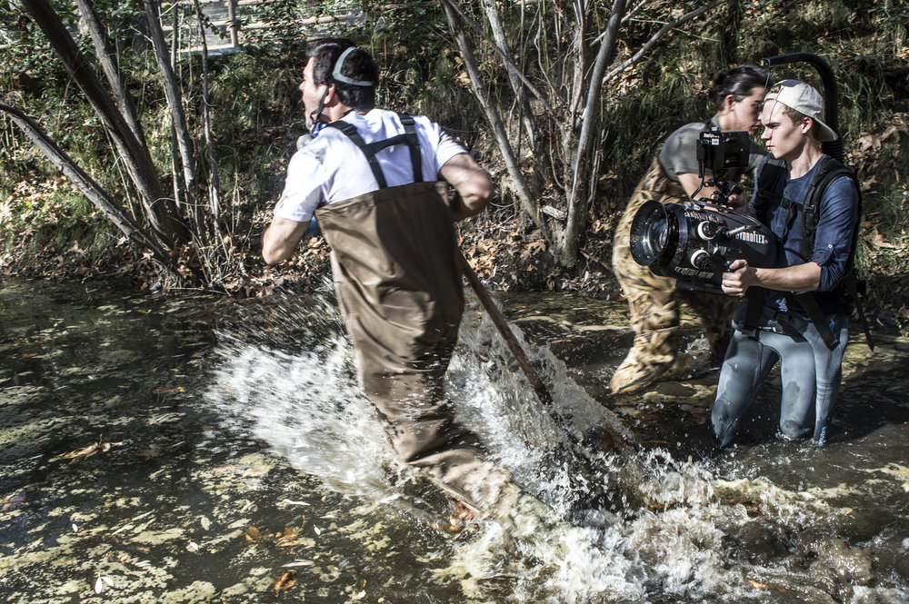 """Cinematographer Martin Taube captures an action sequence for """"Fathom"""""""