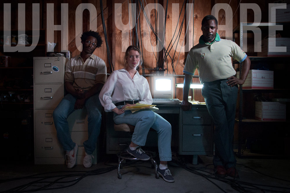 L to R: Skinner Myers as Jonathan, Marie Oldenbourg as Gillian, and DeJean Brown as Daryl in Who You Are. Image Shot By Carolina Rodriguez.