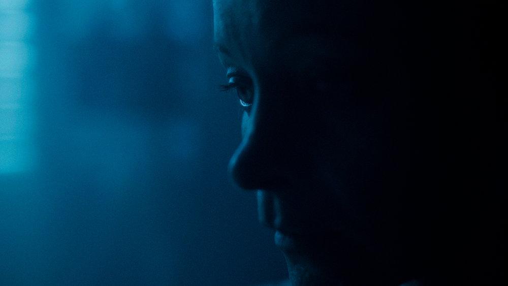 Production Still: Kestrel Leah as Andromeda. Cinematography by Logan Triplett, Color Grading by Ayumi Ashley.