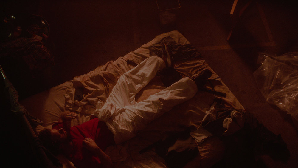 Production Still: Aaron Glenane as Mason. Cinematography by Logan Triplett, Color Grading by Ayumi Ashley.