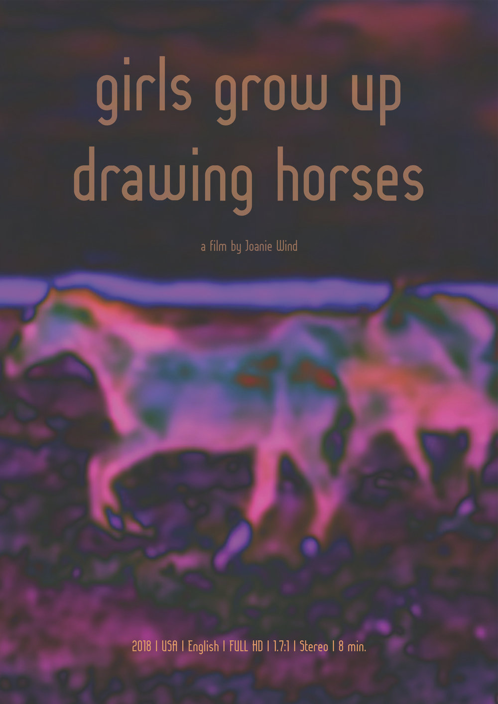 Girls Grow Up Drawing Horses poster