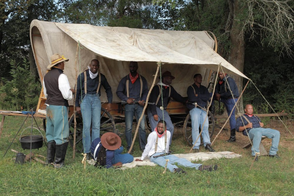 Buffalo Soldiers: A Quest for Freedom BTS still