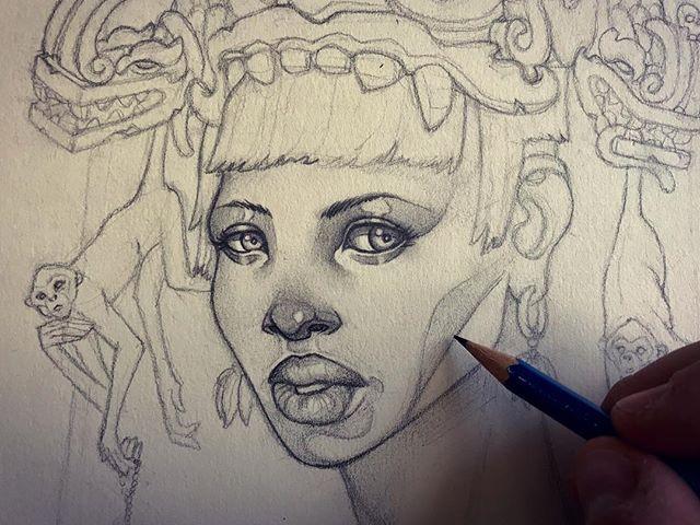 Render bender. . . . . . #drawing #pencil #sketch #art #artwork #portrait #bnw #eyes #portrait sketching #draw #Mayan #maya #monkey #model #illustration