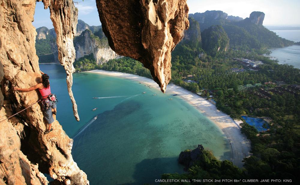 Kaya tırmanışı- Railay Beach