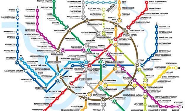 Moskova Metrosu haritası.