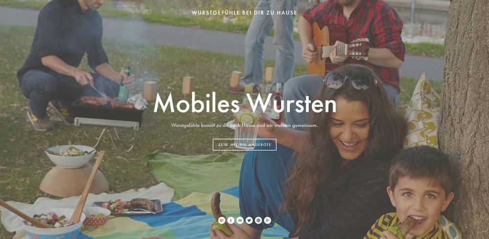 Wurstgefühle auf deiner Feier - Das mobile Wurstangebot von Wurstgefühle.