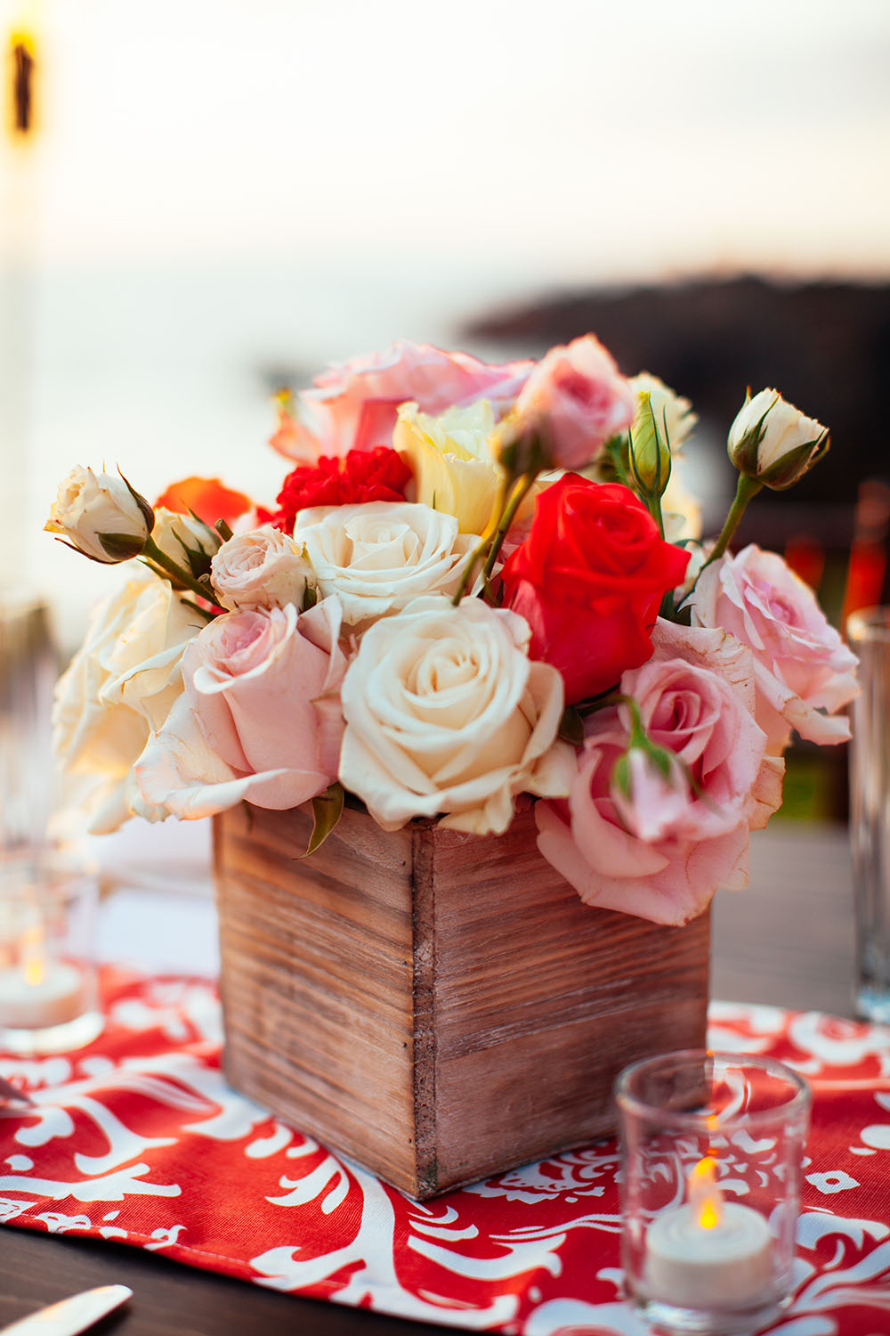 Pink and red wedding florals by Bliss Wedding Design - Dmitri and Sandra Photography