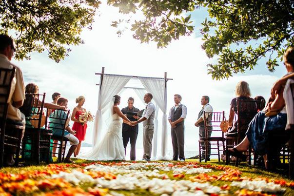outdoor island wedding