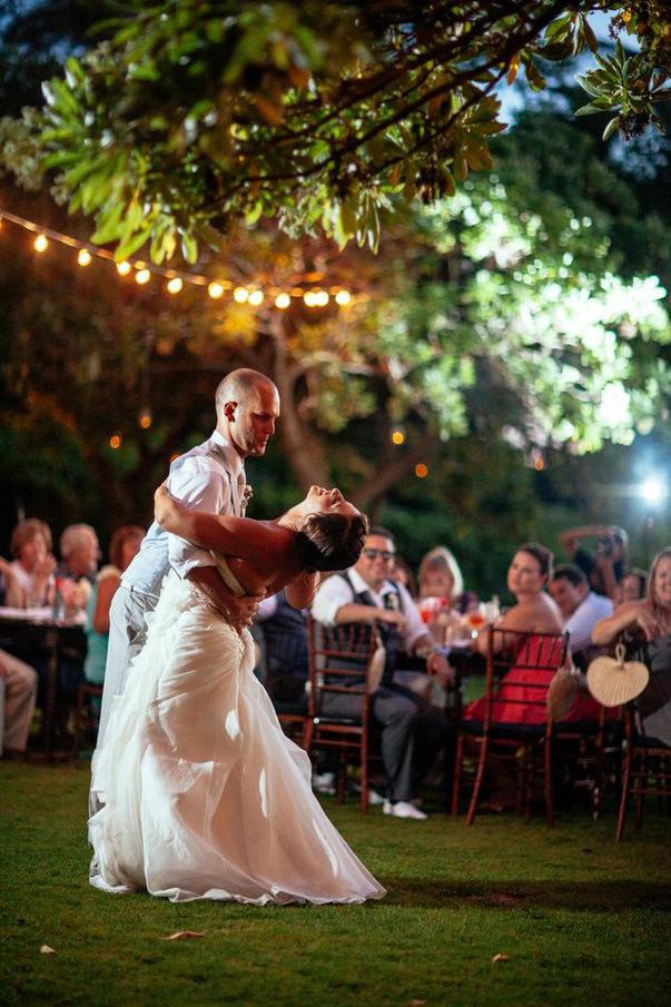 outdoor wedding dance