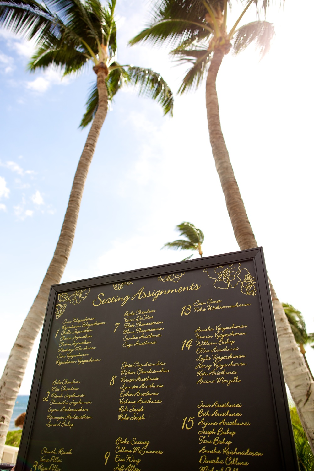 Wedding Seating Assignment Board
