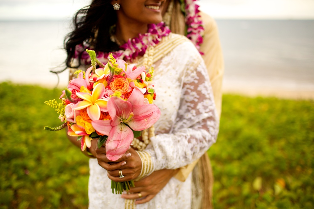 Colorful Tropical Island Bridal Bouquet by Bliss