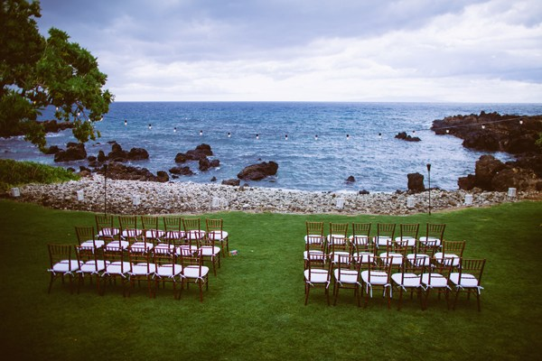 Outdoor Oceanfront Island Wedding