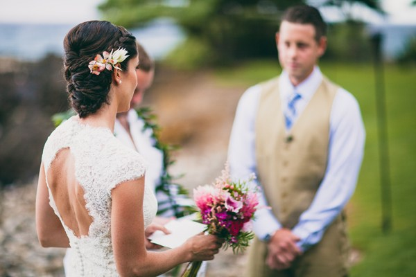 Beautiful Wedding Hair, Dress, and Bouquet