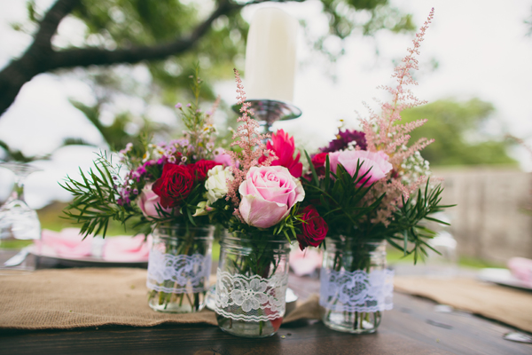 Wedding Mason Jar Flower Vases