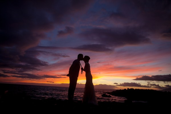 "Epic Maui Hawaii Sunset ""Just Maui'd"" Kiss"