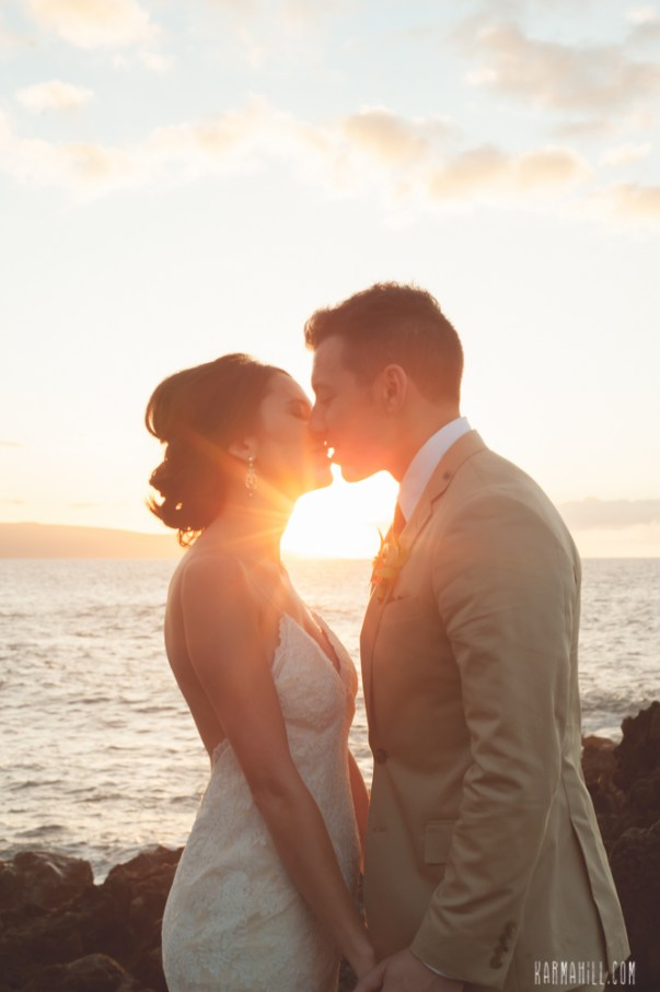 Hawaiian Sunset - Bliss Maui Wedding