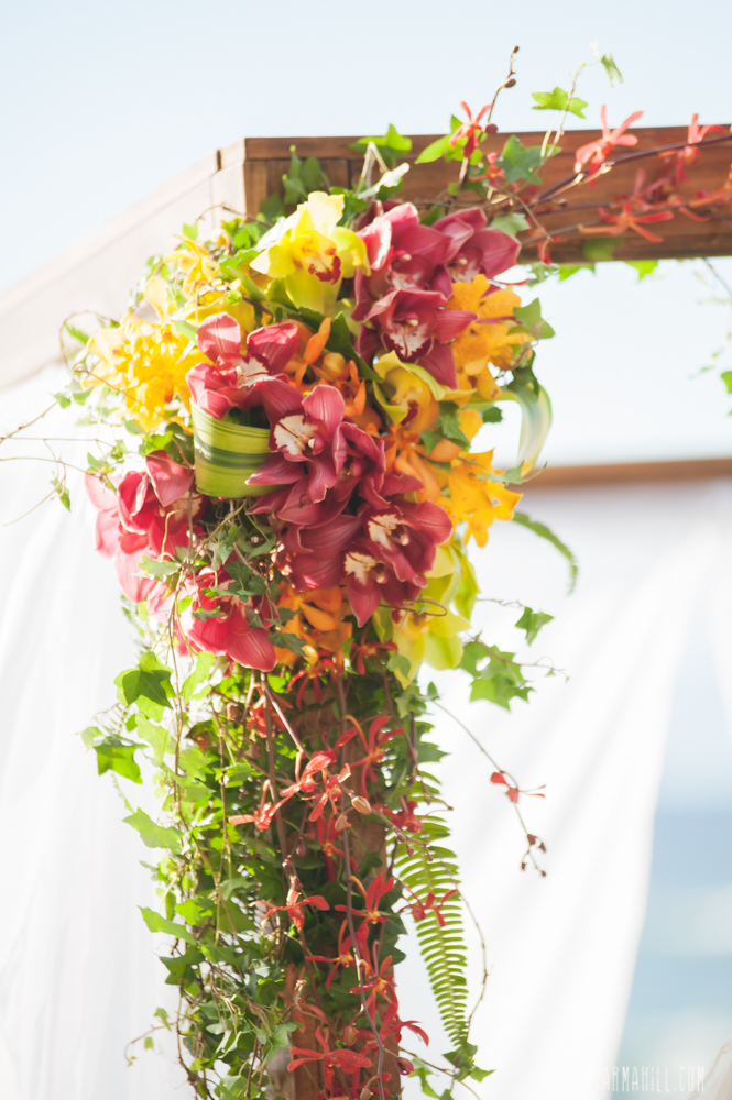 Tropical Wedding Flowers by Bliss