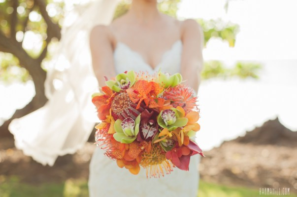 Tropical Bridal Bouquet by Petals