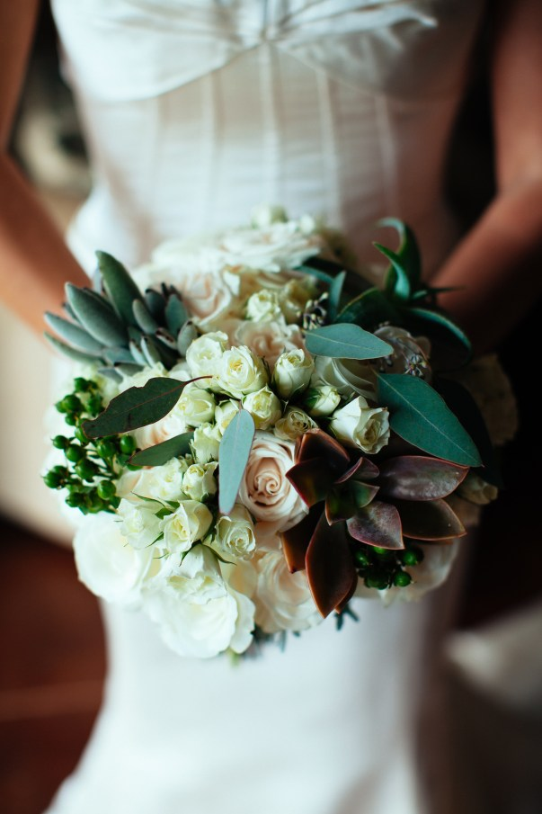 succulent and floral bouquet by Petals