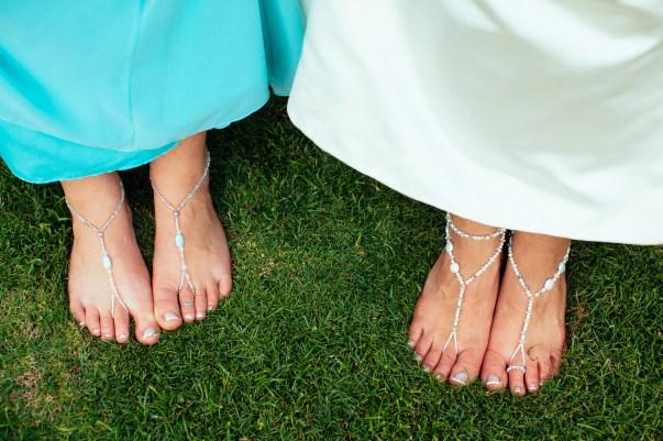 barefoot bridal sandals
