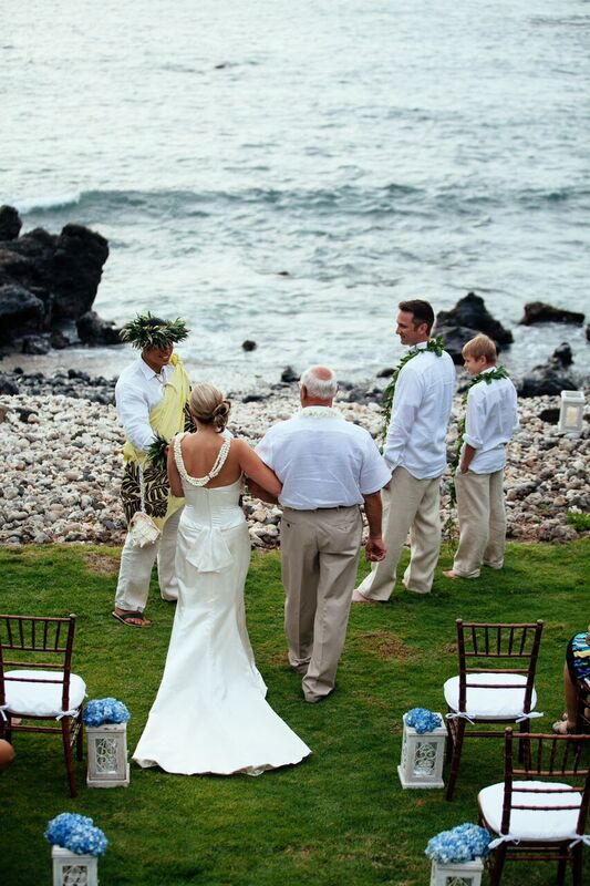 oceanfront Maui wedding