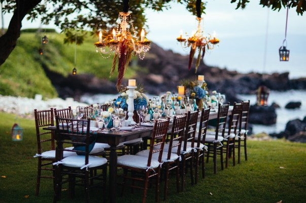 gorgeous outdoor luxury wedding decor