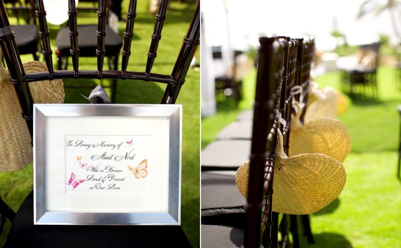 island wedding details