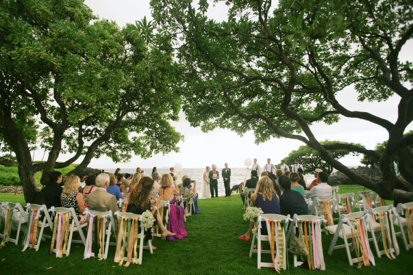 outdoor seaside wedding