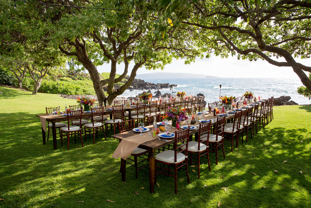 Tropical Seaside Wedding Leanne Jennifer Bliss Maui Wedding