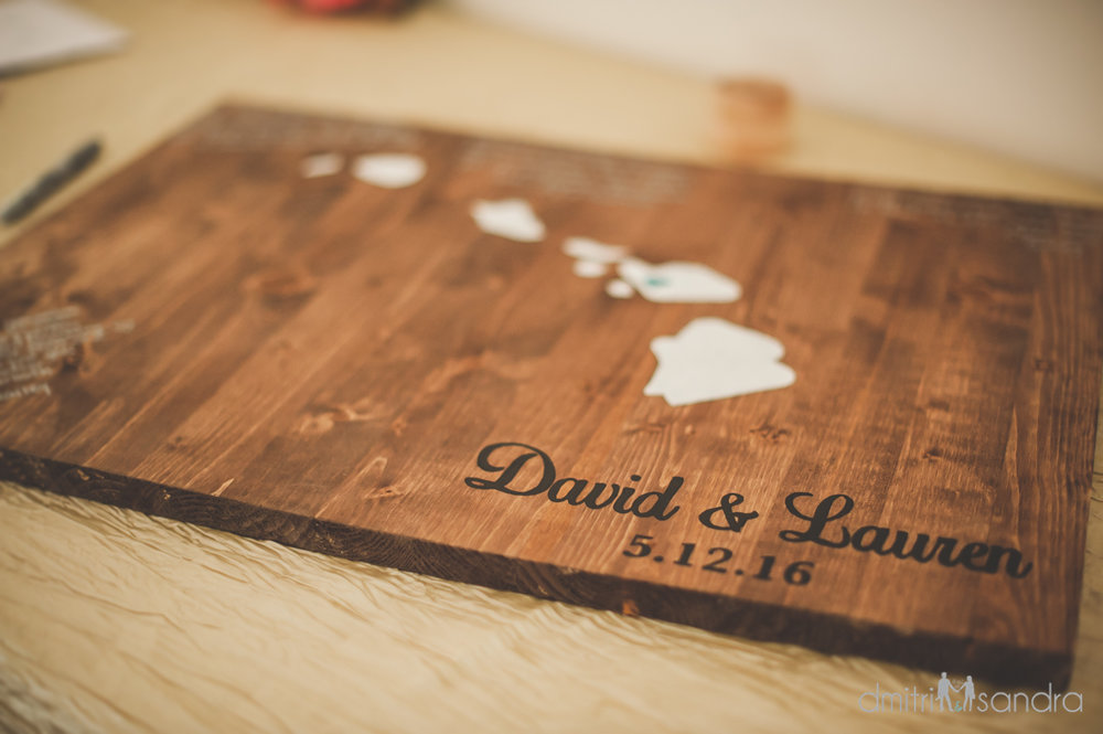 Bliss Wedding Design & Spectacular Events - wooden guest book