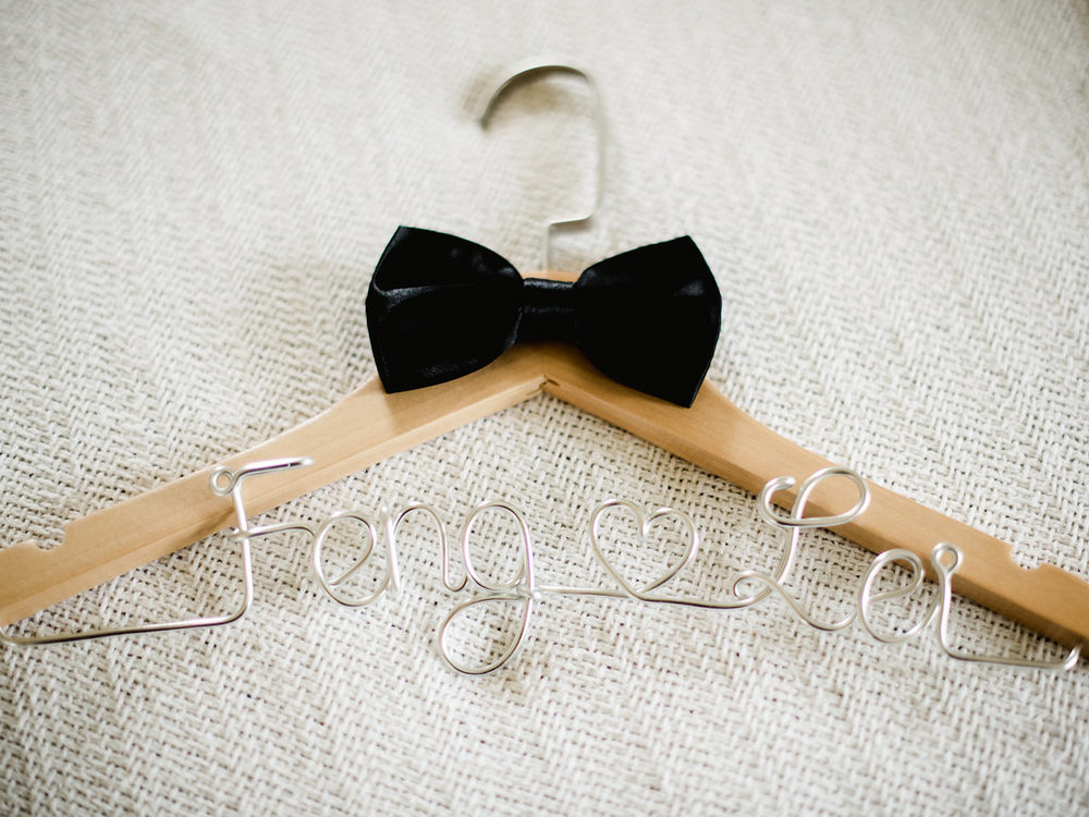Bliss Maui Wedding - personalized hanger