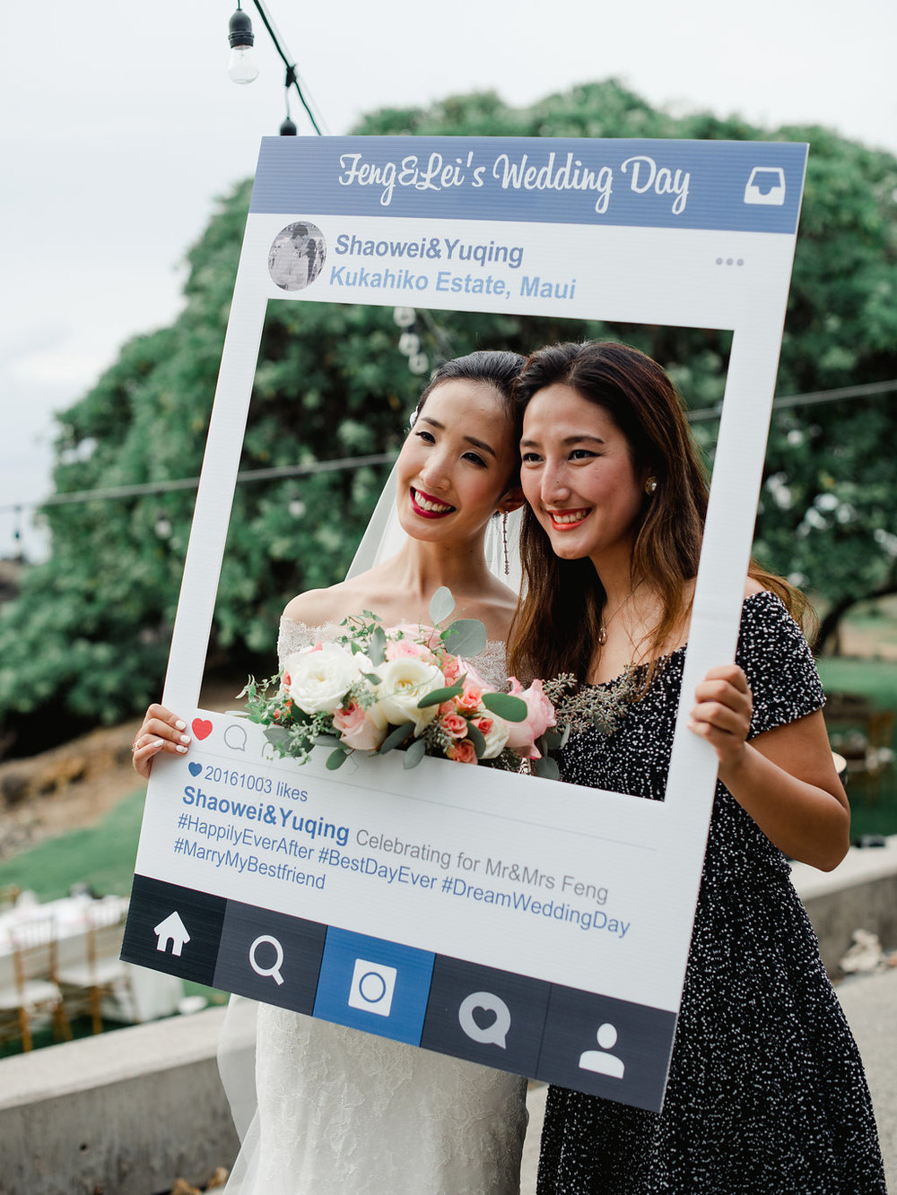 Bliss Wedding Design & Spectacular Events - instagram photo booth prop
