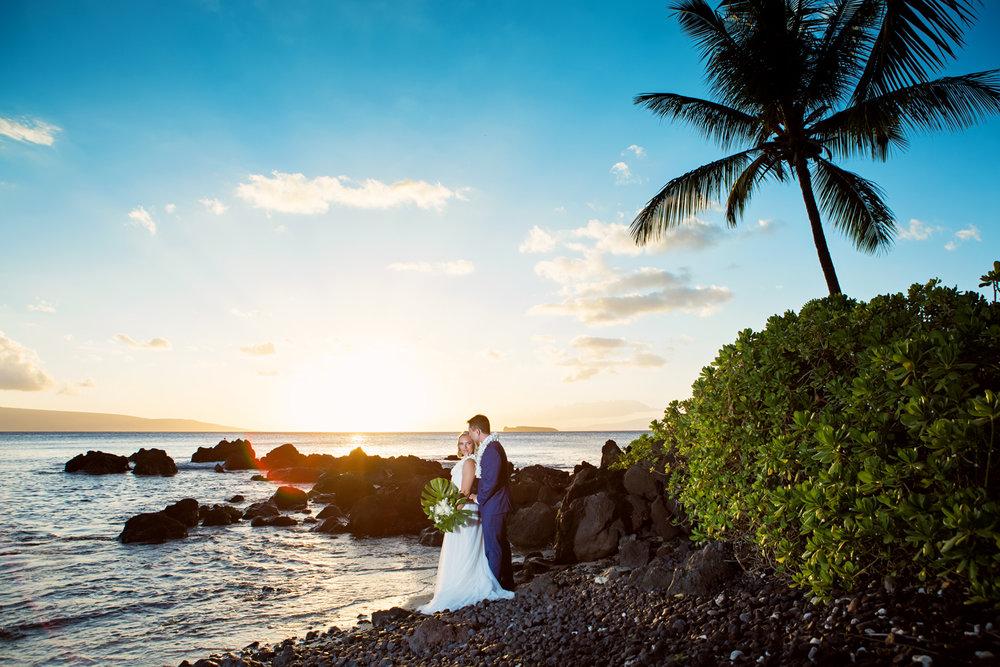 sunset wedding Bliss