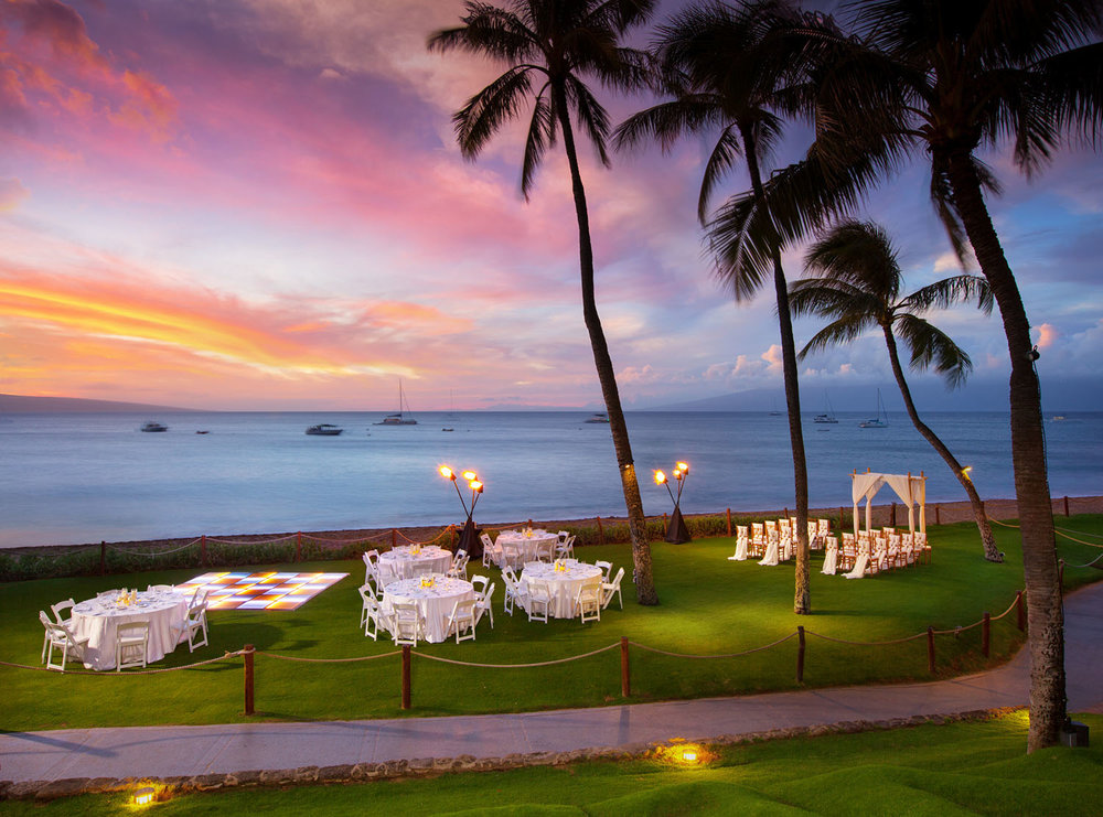 Westin Maui oceanfront Lawn Wedding Venue